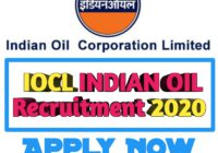 IOCL Indian Oil Recruitment 2020