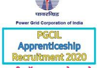 पावर ग्रिड कॉरपोरेशन ऑफ इंडिया लिमिटेड Apprenticeship 2020